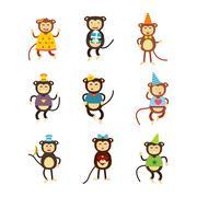 Vector monkey icon Stock Illustration