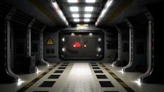 Sci Fi Door Transition 1080p Stock Footage