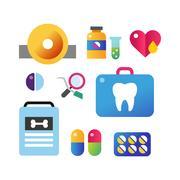 Medicine vector icons set Piirros