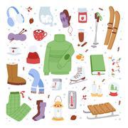 Winter icons vector illustration Stock Illustration
