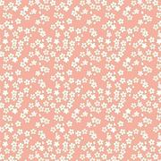 Seamless pink and golden cherry blossom flower pattern background. Piirros