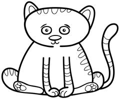 Cat or kitten coloring page Piirros