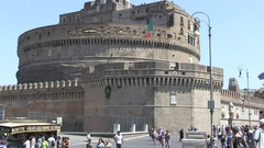 Castel Sant angelo fortress Stock Footage