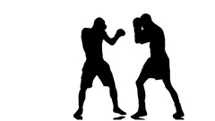 Knockdown boxer. Slow motion Stock Footage