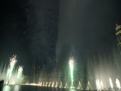 New Year Fireworks show series at world's tallest tower Burj Khalifa in Dubai Stock Footage