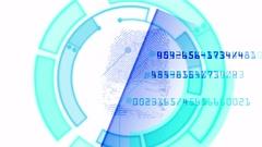 4k Fingerprint identity scan password spy hacker search gene sequencing tech. Stock Footage