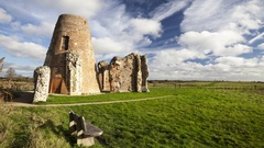 St Benets Abbey ruins Stock Footage