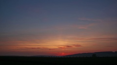 Sunset Time lapse at horizont Stock Footage