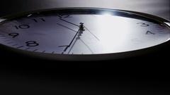 Clock time lapse - dramatic lighting 4 K Stock Footage