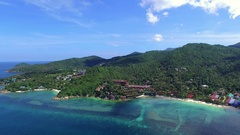 Tropical Island from Bird's-Eye Aerial View. Thailand Stock Footage