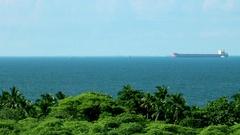Colombian Caribbean Ship Santa Marta Stock Footage