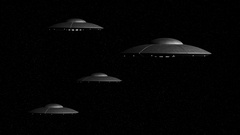 3d rendered animation of flying saucers Stock Footage