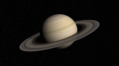 3d rendered animation of the planet Saturn Stock Footage