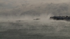 Lake Superior Series Silver Bay Mist  Stock Footage