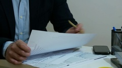 Checking the Results after Project Succes Stock Footage