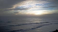 Sunset or sunrise over the sea Stock Footage