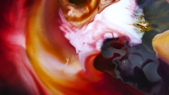 Abstract movement and color of the milk. Stock Footage