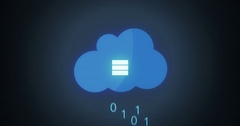 Futuristic Uploading graphics uploading files to the cloud Stock Footage