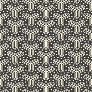 Antique seamless background image of triangle round dot cross line Stock Illustration