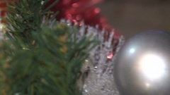 Decorating Christmas Tree Balls Camera Movement on Gifts Stock Footage