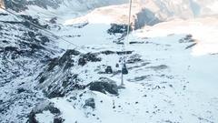 Titlis engelberg mountain snow Stock Footage