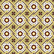 Seamless background image of vintage cross square frame flower pattern. Stock Illustration