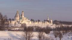 Voskresensky New Jerusalem Monastery. Istra, Russia. Stock Footage