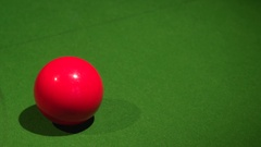 Close up of snooker balls (3) Stock Footage