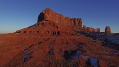 MONUMENT VALLEY TRIBAL PARK AERIAL FLYING OVER LANDSCAPE Stock Footage