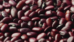Healthy vegetarian food - colored beans Stock Footage