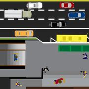 Plot road, highway, street, with the store. Underground crossing. Crossroad.. Stock Illustration
