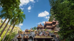 Tham khao wong temple beautiful temple located Stock Footage