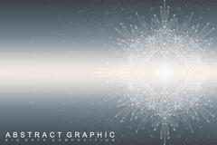 Big data complex. Graphic abstract background communication. Perspective Stock Illustration