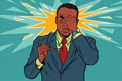 Eye pain, fatigue and poor vision Stock Illustration