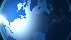 Slovenia. Map. Zooming into Slovenia on the globe. Stock Footage