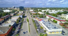 Aerial footage of Commercial Boulevard Lauderdale by the Sea Stock Footage