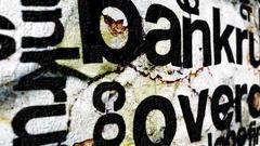 Bankrupt overdue grunge concept Stock Footage