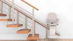 Stairlift for the disabled Stock Footage