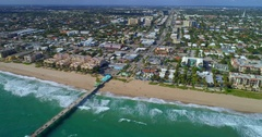 Aerial hyperlapse video Lauderdale by the sea Stock Footage