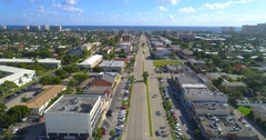 Aerial video Commercial Boulevard eastbound Stock Footage