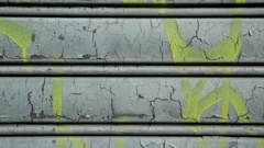 City decay wall Vandalism drawing on private property. Stock Footage