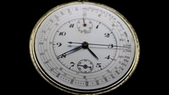 Antique Dial Chronograph Watch Stock Footage