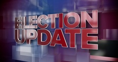 Dynamic Election Update News Title Page Background Plate Stock Footage