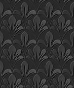 Dark 3D paper art curve nature leaf cross Stock Illustration