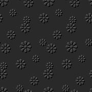 Seamless 3D elegant dark paper art Daisy Round Flower Stock Illustration