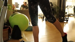 Leg extension step Stock Footage