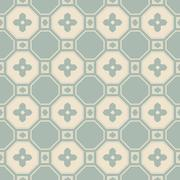 Antique seamless background polygon cross flower Stock Illustration