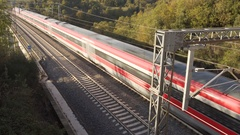 High speed train - Italy  Stock Footage