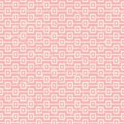 Seamless vintage worn out pink square sequence pattern background. Stock Illustration