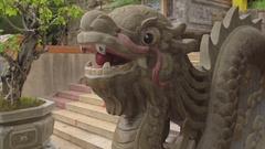 Long Son pagoda in Nha Trang, Vietnam Stock Footage